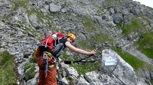 Klettersteig Zittergrat : Engelberg zittergrat rigitalstock fotos